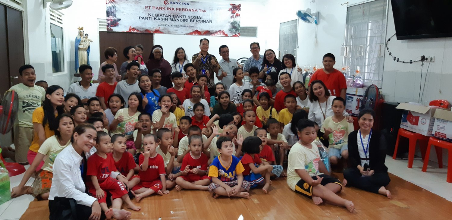 CSR program of PT. Bank Ina Perdana Tbk Social Service at Panti Kasih Mandiri Bersinar