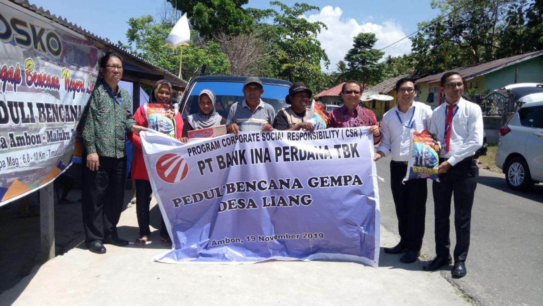 Program CSR PT. Bank Ina Perdana Tbk Peduli Bencana Gempa Desa Liang