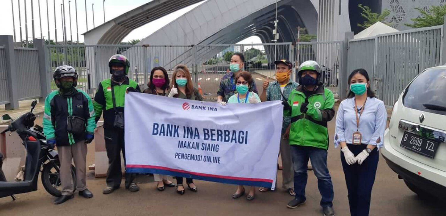 CSR program of PT. Bank Ina Perdana Tbk Shares Online Driver's Lunch