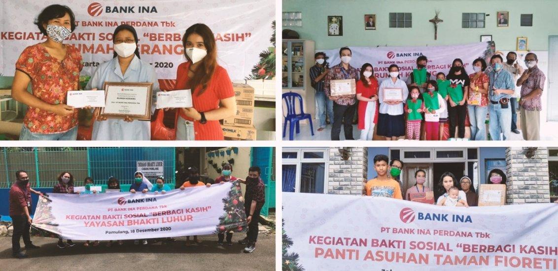 Program CSR PT Bank Ina Perdana Tbk dalam Berbagi Kasih Ke Panti Asuhan