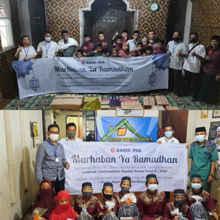 PT Bank Ina Perdana Tbk's CSR program shares in the framework of the holy month of Ramadan
