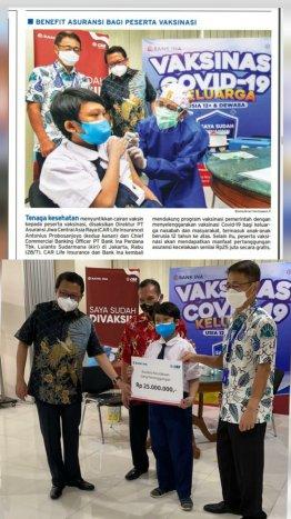 Program CSR PT Bank Ina Perdana Tbk dalam rangka mendukung program vaksinasi pemerintah