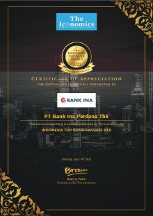 Indonesia Top Bank Awards 2021, September 14th 2021
